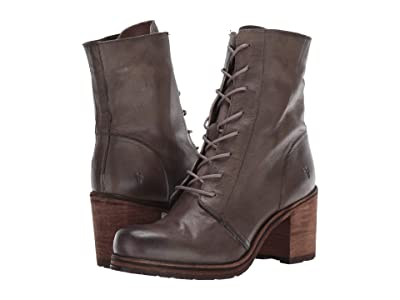 Frye Karen Combat (Grey Vegetable Tan Leather) Women