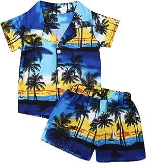 Baby Boy Short Sleeve Shirt Tops Short Pants Outfit Beachwear Toddler 2Pcs Clothes Set