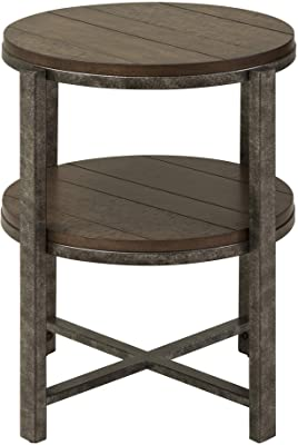 Liberty Furniture Industries Breckinridge Occasional End Table, W22 x D22 x H24, Medium Brown
