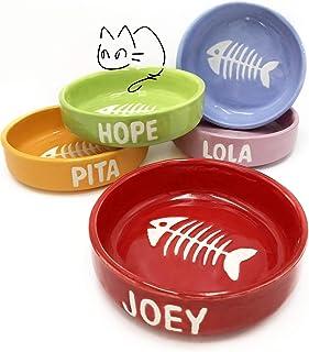 Ciotola in ceramica per gatti personalizzata con nome
