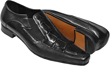 Mauri Men's Genuine Alligator Polished Calfskin Exotic Skin Slip On Loafers Shoes 0216