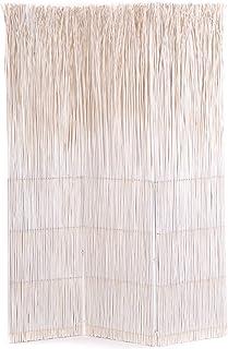 HxP Legno di salice divisorio per Soggiorno 3 Parti Privacy della Stanza 170x120 cm Parete divisoria in Legno Schermo Bianco DESIGN DELIGHTS DIVISORIO per SALICE Nature 2