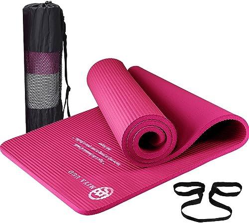 LILUO Tapis de Yoga allongeant élargi épaississement Fitness Mat Tapis de Yoga 185  66  1.5cm