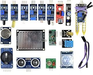 WINGONEER 16pcs/lot Sensor Module Board Kit for Arduino Raspberry Pi 3/2 Model B