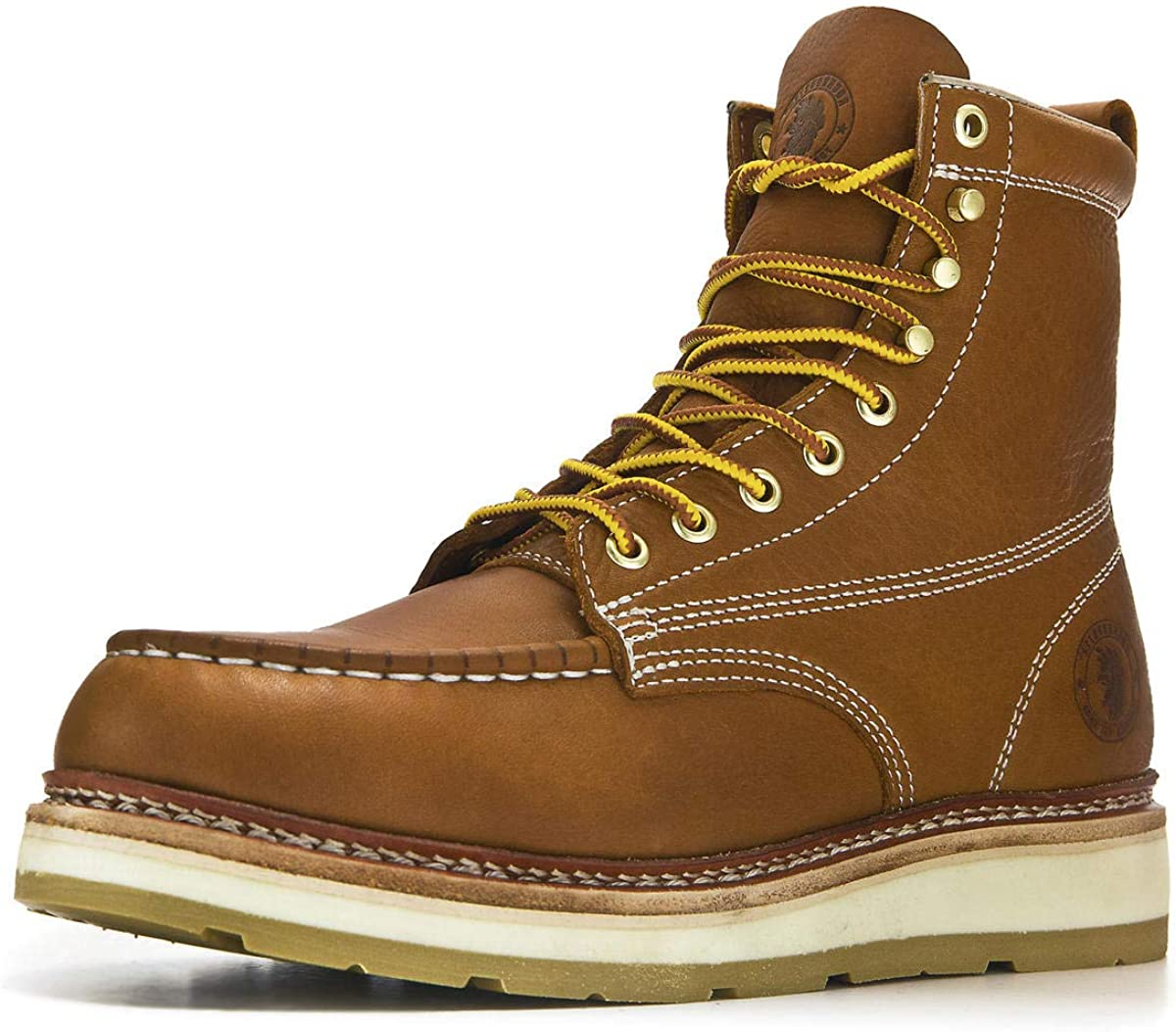 ROCKROOSTER New popularity Norwood Men's Moc Toe Steel Boots Work 7