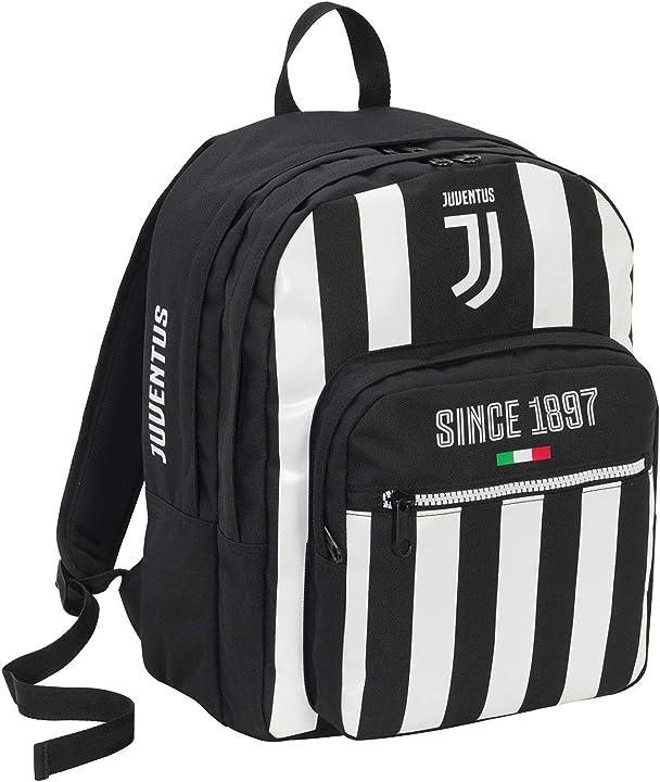 Zaino juventus coaches doppio scomparto seven 41 cm 34 lt bianco & nero scuola & tempo libero 2B6001910-F75
