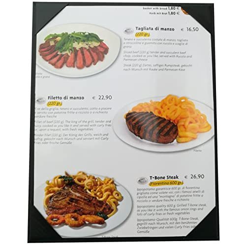 """Double View,Sold By Case 8/"""" 1//2 X 11/"""" Inches Packed of 5 Pcs New Menu Cover"""