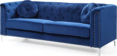 Glory Furniture Pompano Sofa, Navy Blue. Living Room Furniture, 31