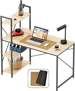 Bestier Computer Desk with Bookshelf 55 Inch (Desk Pad...
