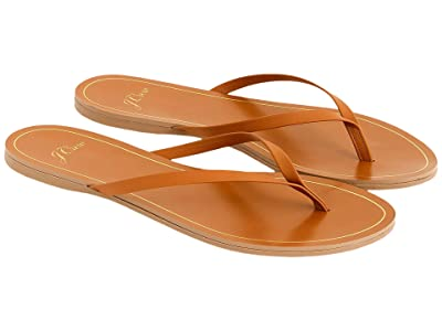 J.Crew New Capri Leather Flip-Flop (Roasted Pecan) Women