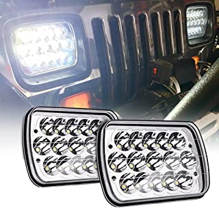 MICTUNING 2Pcs 45w 7x6 Led Headlights Rectangular 5x7 Hi Lo Led Sealed Beam H6054 6053 6052 5054 Headlights Replacement for Jeep Wrangler YJ XJ MJ Chevy
