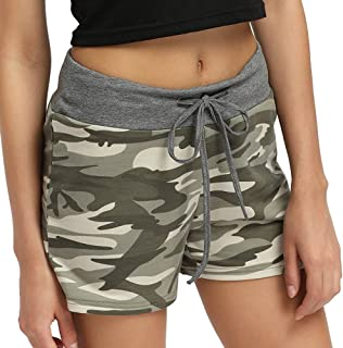 LISTHA Summer Hot Pants Women Camo Shorts Casual Drawstring Waist Short Trousers