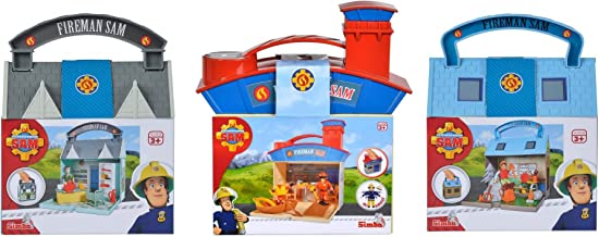 Fireman Sam 3 Travel Playsets 6 Action Figure Character Set Ages 3+ Includes Dilys Norman Moose Tom Thomas Ben Hooper and Penny