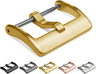 Barton Elite Watch Band Replacement Buckle - Brushed 316L Stainless Steel - 16mm, 18mm, 20mm, 22mm & 24mm