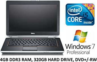 Dell Latitude E5430 14.1-Inch Business Laptop PC, Intel Core i5 Processor, 4GB DDR3 RAM, 320GB Hard Drive, DVD+/-RW, Windows 7 Professional (Renewed)
