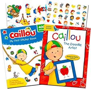 Caillou Party Supplies Caillou Activity and Stickers Book Set for Toddlers Kids -- 2 Caillou Books Filled with over 400 Caillou Stickers and Games (Activity Super Set)