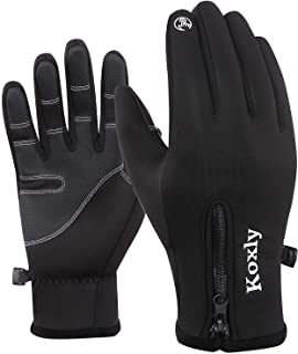 Winter Gloves Touch Screen Fingers Warm Gloves Insulated Anti-Slip Windproof Waterproof Cycling Riding Running Work for Men Women Mens Womens