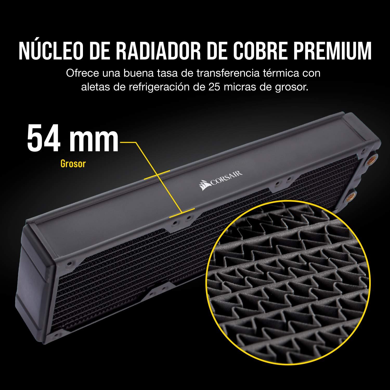 Corsair Hydro X Series iCUE XH300i RGB Kit de Refrigeración Personalizada, XC7 RGB 115X/AM4, XD5 Pack de Bomba/Depósito, 3 x LL 120 RGB Ventilado, Negro: Amazon.es: Informática