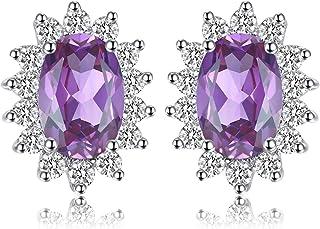 0171da3b4 JewelryPalace Princess Diana William Kate Natural Peridot Amethyst Topaz  Created Sapphire Emerald Ruby Gemstone Earrings 925