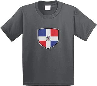 Amdesco Dominican Republic Shield Dominican Flag Youth T-Shirt
