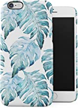 DODOX Tropical Pale Blue Jungle Leaves Floral Pattern Case Compatible with Apple iPhone 6 Plus/iPhone 6S Plus Snap-On Hard Plastic Protective Shell Cover Carcasa
