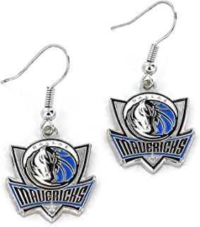 aminco NBA unisex-adult NBA Logo Dangler Earrings