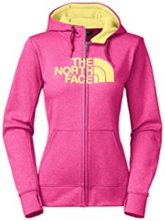 The North Face Women's Fave Half Dome Full Zip Hoodie, Raspberry Rose Heather/Hamachi Yellow, MD