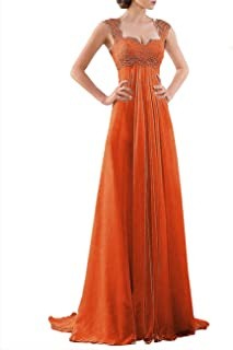 f94e970af4 DYS Women s Empire Waist Bridesmaid Wedding Party Dress Lace Formal Evening  Gown