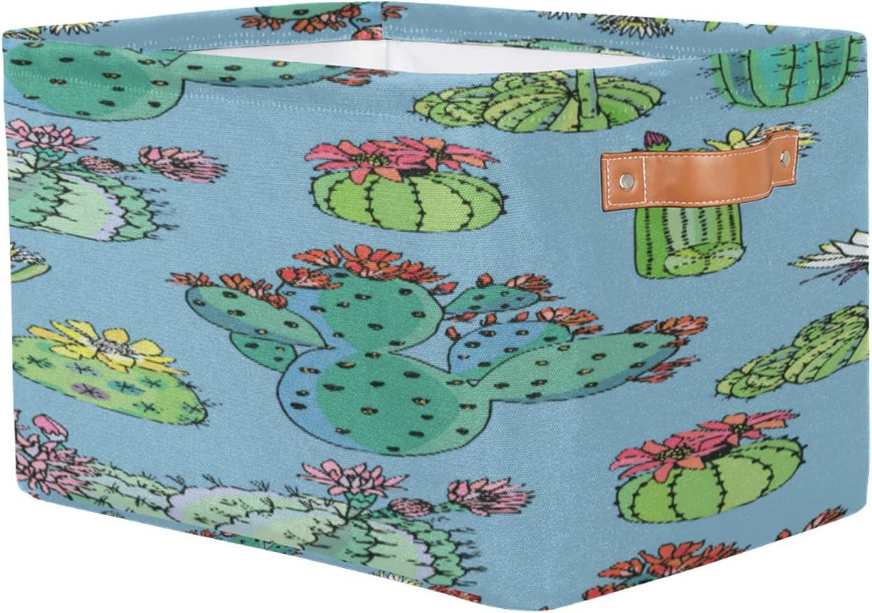 Storage Basket Max 47% OFF Succlent Cactus Rectangular wit Toy Bins Our shop most popular