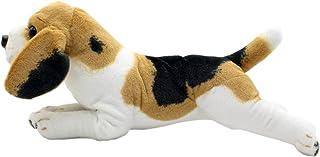 العاب ووسائد الحيوانات المحشوة من تاغلن على شكل كلب بيغل الدلماسي روتويلر كينج تشارلز، وسائد مخملية بحجم 19 انش (بيغل)