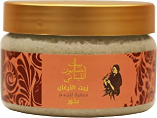 Bayt Al Saboun Al Loubnani Argan Theraphy Bakhour Body Sugar Scrub, 300 Gm