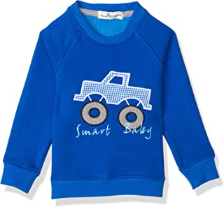 Bella Cotton BCW124APK Car Stitched Detail Ribbed Trim Long Sleeves Sweatshirt for Boys - Royal Blue, 36 Months
