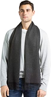 Fishers Finery Men's 100% Pure Cashmere Winter Scarf; 2-Ply Dehaired
