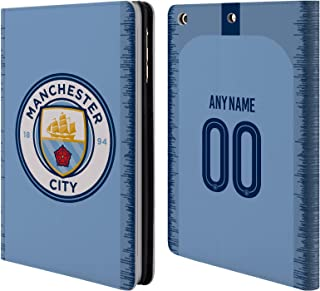 Custom Customized Personalized Manchester City Man City FC Home Kit 2018/19 Leather Book Wallet Case Cover Compatible for iPad Mini 1 / Mini 2 / Mini 3