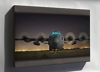 Canvas 16x24; Air Force C-130 Hercules, Sather Air Base, Iraq, April 19, 2006