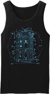 New York Fashion Police Police Call Box Tank Top Leonardo Da Vinci Vitruvian Style Shirt
