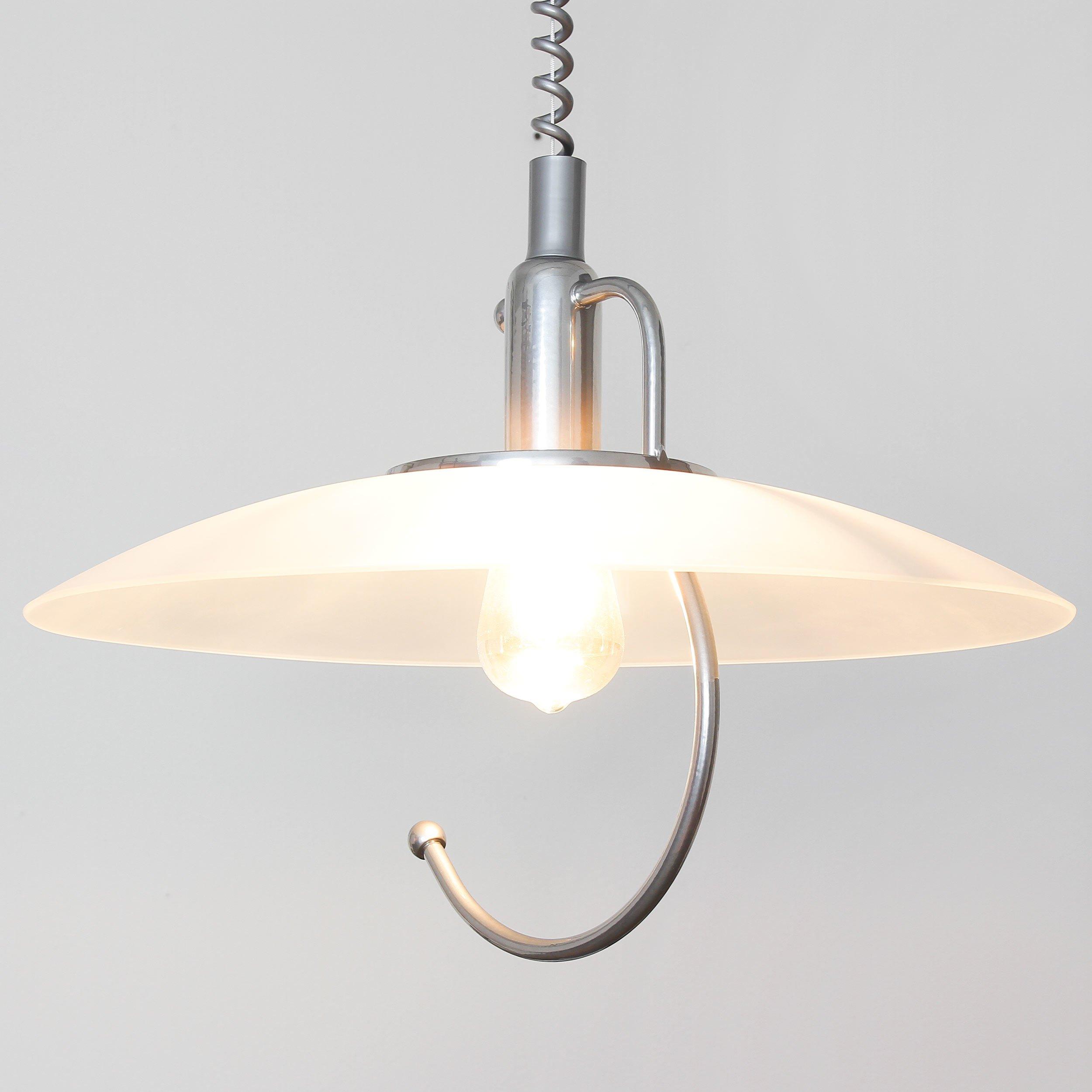 Praktische Hängeleuchte in Silber Zeitloser Stil inkl. 15x 152W E15 LED  Pendelleuchte aus Metall & Glas höhenverstellbare Hängelampe für Küche