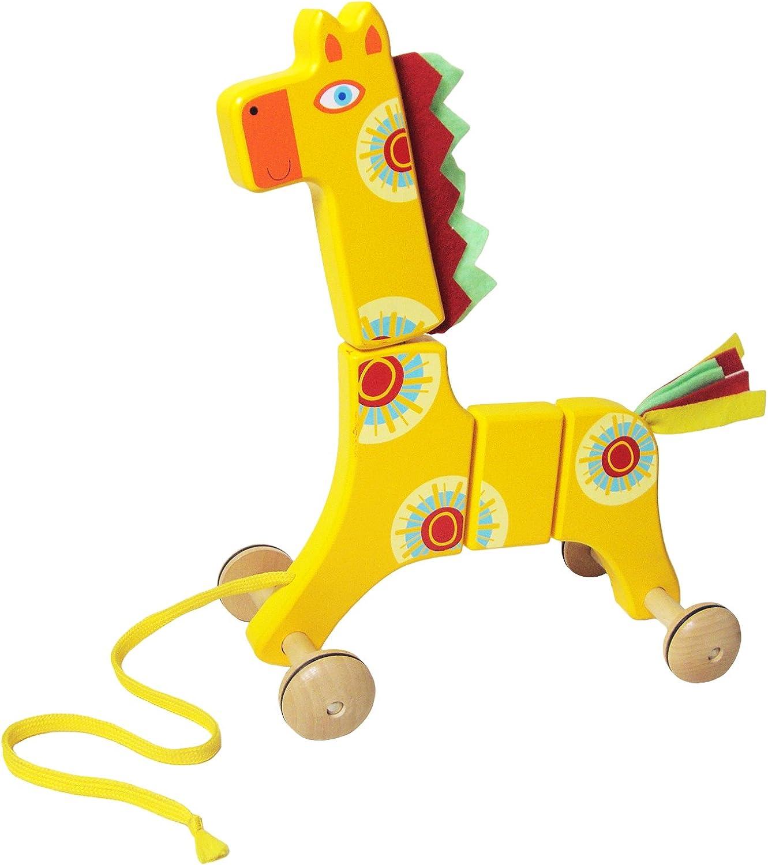 Sassafras Giraffe Wooden Pull Toy