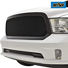 EAG Mesh Grille ABS Replacement Matte Black Fit for 13-18 Dodge Ram 1500
