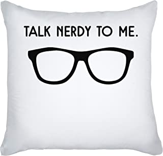 graphke Talk Nerdy to Me Hipster Glasses Decorative Pillow