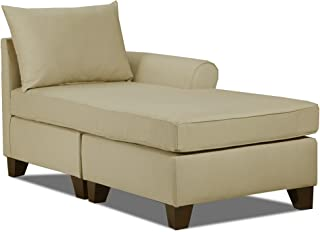Carolina Accents Belle Meade Right Arm Chaise, Khaki