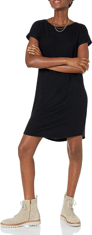 Amazon Brand - Daily Ritual Women's Cozy Knit Dolman-Sleeve Boat-Neck Dress
