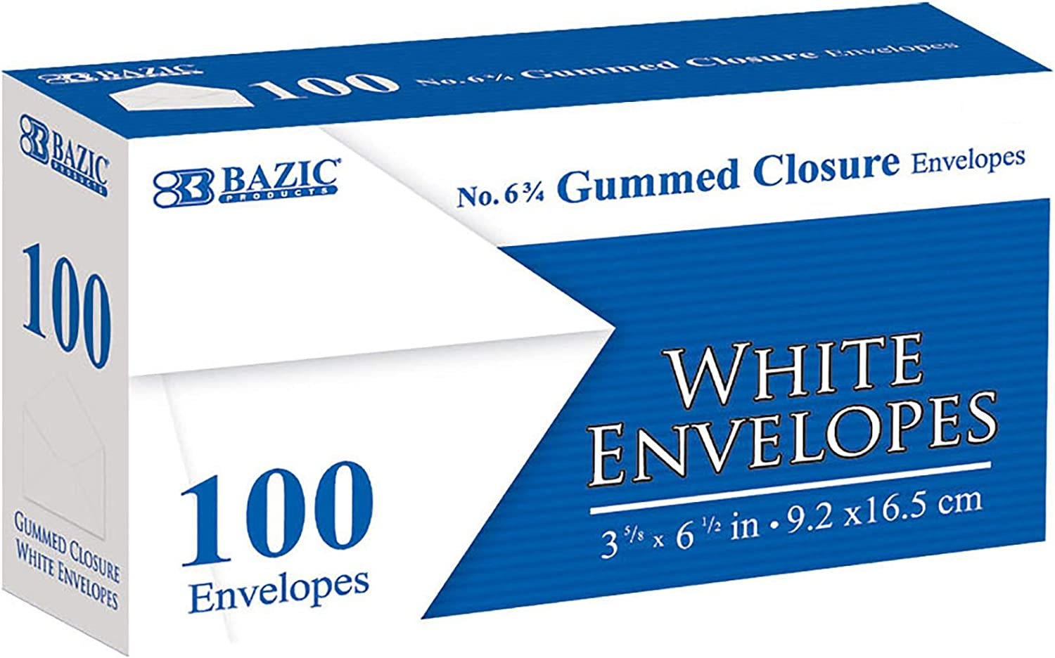 BAZIC White Envelope #6 3 4 Free Super popular specialty store Shipping Cheap Bargain Gift Gummed Seal 6 2 x 8 1 5 No Window