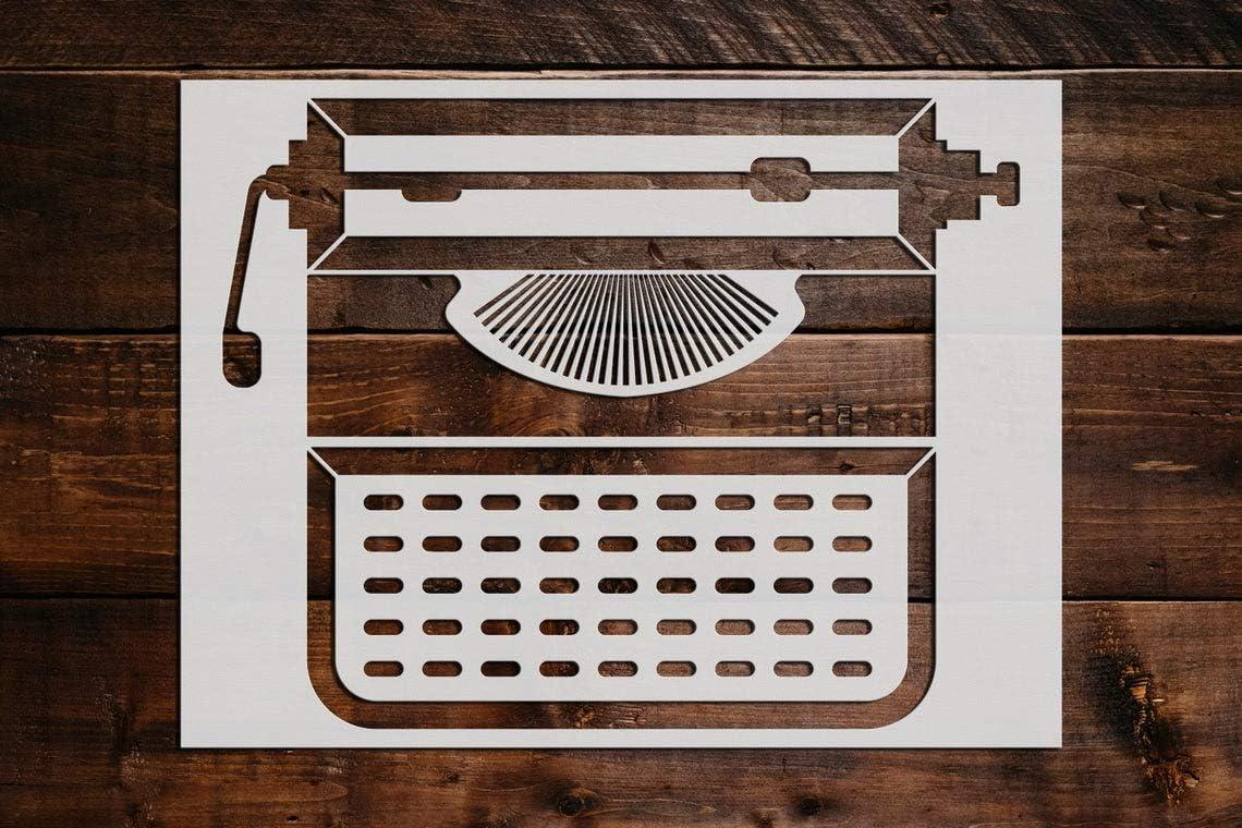 最安値 Typewriter Stencil DIY Reusable Craft Painting Stencils and Wall 公式ストア