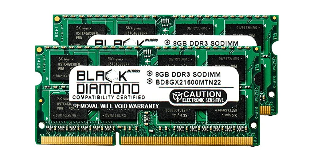ユーモラス分析的拡声器16GB 2X8GB RAM Memory for Compaq Pavilion m6 Series m6-1060sr Black Diamond Memory Module DDR3 SO-DIMM 204pin PC3-12800 1600MHz Upgrade
