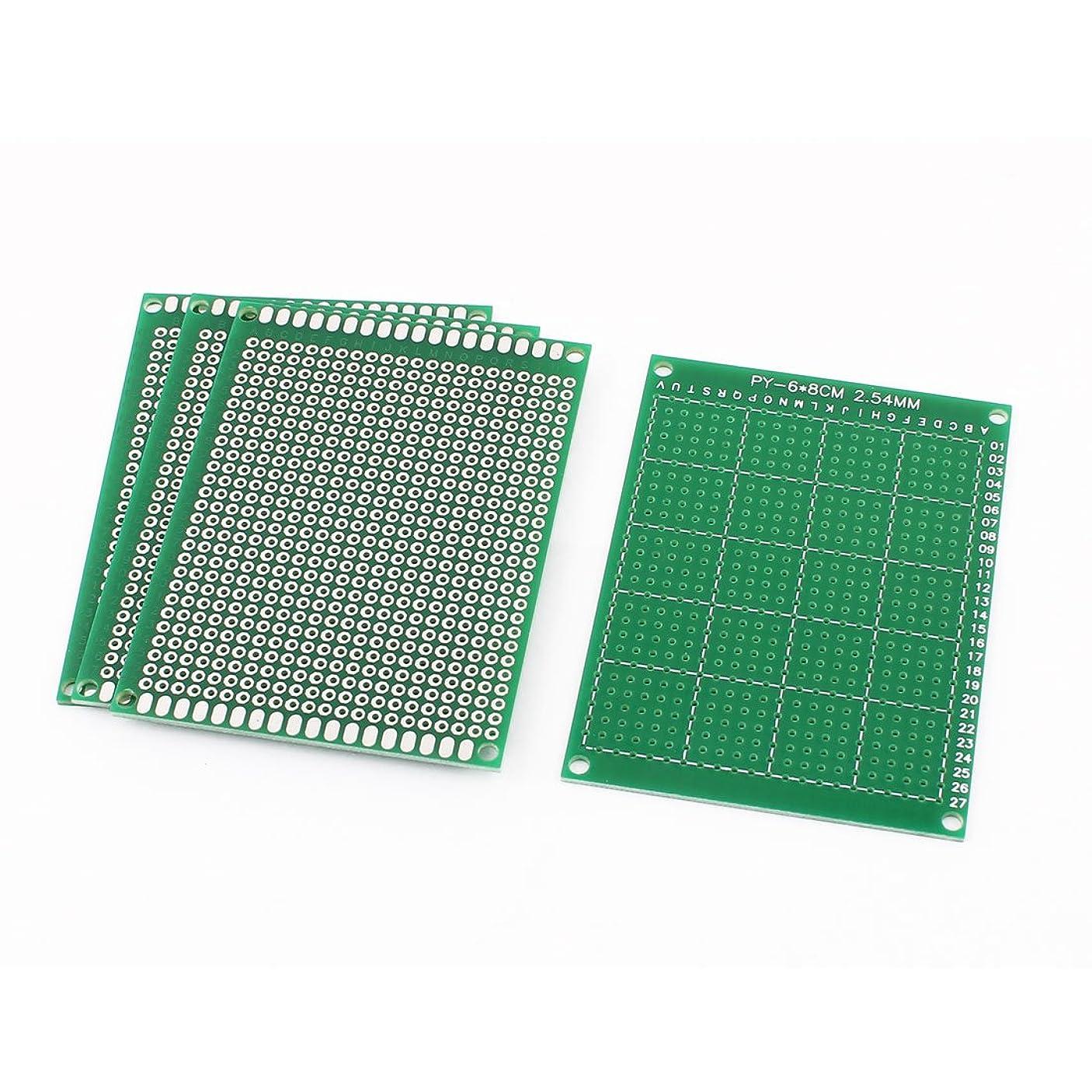 船酔い石鹸投資するuxcell PCBユニバーサル基板 PCBボード プロトタイプ紙 FR-4材料 6cm x 8cm 緑 4個入り