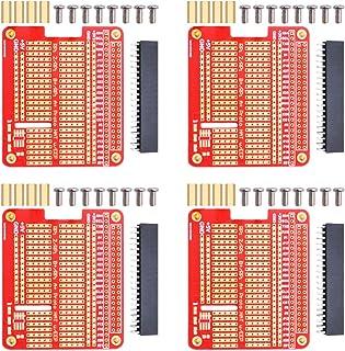 GeeekPiプリント回路基板4個プロトタイプブレイクアウトDIYブレッドボードPCBシールドボードキットラズベリーパイに適しています43 2 B + A +(4枚セット)