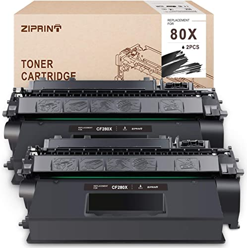 wholesale ZIPRINT Compatible Toner Cartridge Replacement for HP CF280X 80X CF280A 80A use for Laserjet Pro 400 M401 M401a M401n M401d M401dn M401dne M401dw MFP sale M425 MFP M425dn MFP M425dw (Black, new arrival 2-Pack) online