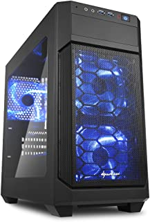 Sharkoon SV1000 Window Micro ATX PC/Computer Gaming Case With LED Lights - Black