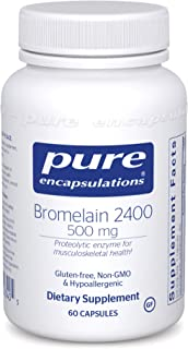 Pure Encapsulations Bromelain 2400   500 mg Supplement for Immune and Digestive Support, Enzymes, Joints, Muscle Recovery,...